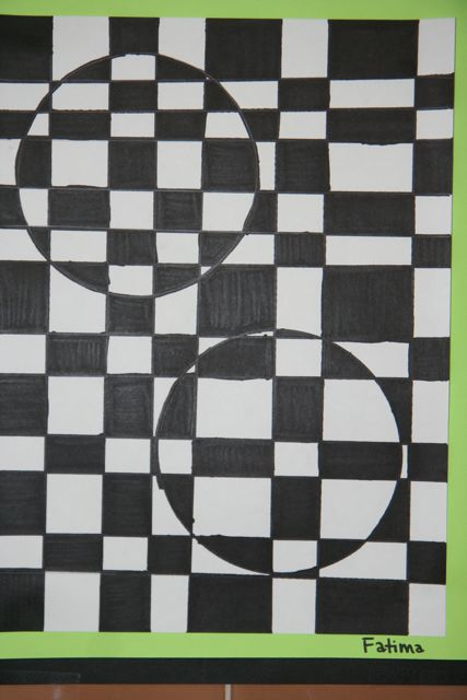 splish splash splatter 6th grade op art drawings