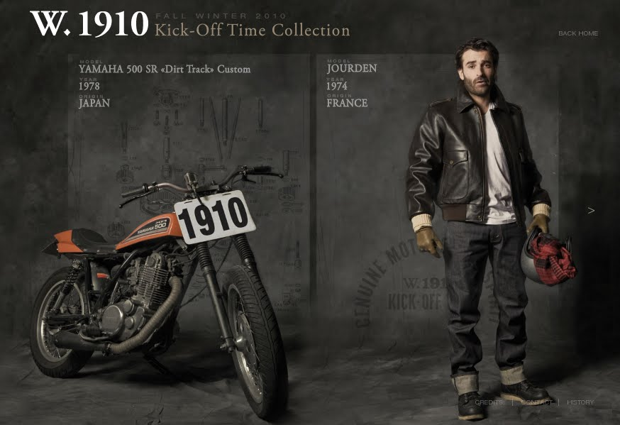 Vintage Racers W 1910 Design Motorcycle Clothes