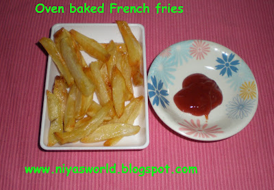 Niya's World: Oven baked French fries