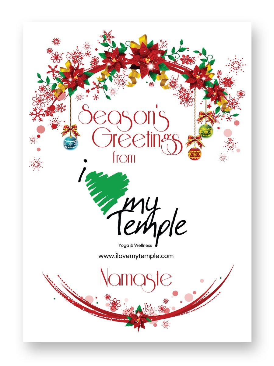 LOVE MY TEMPLE Yoga & Wellness Center: Season's Greetings