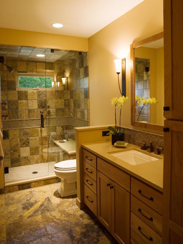 Meuble et decoration de salle de bain for Small full bathroom remodel
