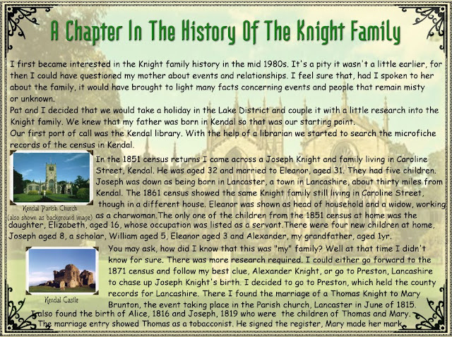 A Chapter In The History Of The Knight Family