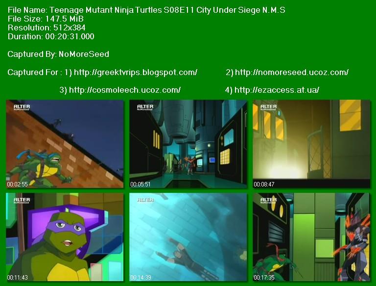 ΧΕΛΩΝΟΝΙΤΖΑΚΙΑ - Teenage Mutant Ninja Turtles N.M.S. Pack  (S08E01 - S08E03 - S08E04 - S08E10 - S08E11 - S08E12) (ΜΕΤΑΓΛΩΤΤΙΣΜΕΝΟ)  (ALTER)