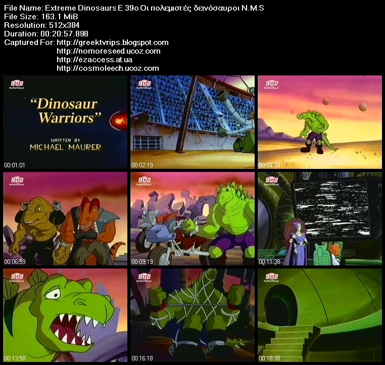 Extreme Dinosaurs E 39ο Οι πολεμιστές δεινόσαυροι N.M.S (902)