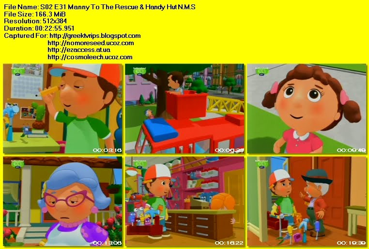 Ο ΜΑΣΤΟΡΑΚΟΣ XANTI MANI - HANDY MANNY -  S02 - E31 - Manny To The  Rescue & Handy Hut N.M.S (ET1)