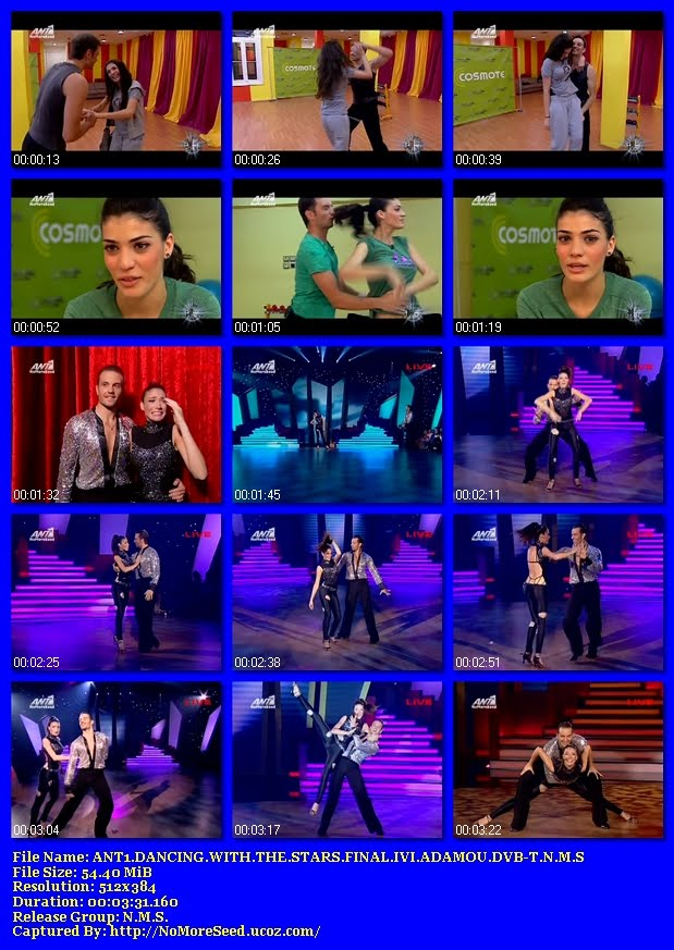 ΤΕΛΙΚΟΣ DANCING WITH THE STARS *ΗΒΗ ΑΔΑΜΟΥ* -  ANT1.DANCING.WITH.THE.STARS.FINAL.IVI.ADAMOU.DVB-T.N.M.S