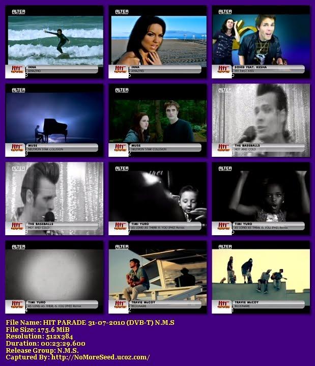HIT PARADE 31-07-2010 {ΜΟΥΣΙΚΗ ΕΚΠΟΜΠΗ} (DVB-T) N.M.S (ALTER)