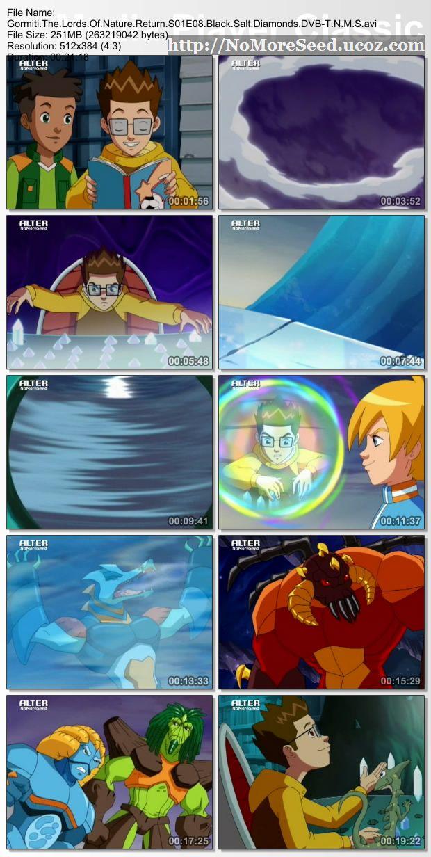 GORMITI: Η ΕΠΙΣΤΡΟΦΗ ΤΩΝ ΑΡΧΟΝΤΩΝ ΤΗΣ ΦΥΣΗΣ S01E08 ΤΟ ΜΑΥΡΟ ΔΙΑΜΑΝΤΙ - Black Salt Diamonds (DVB-T) N.M.S (ALTER)