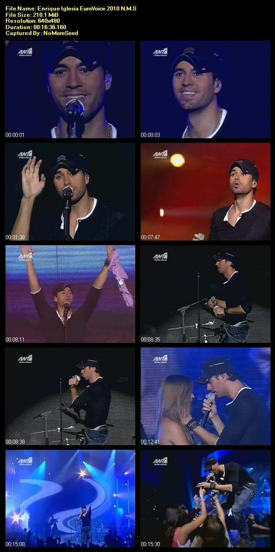 Enrique Iglesias EuroVoice 2010 Live Performance N.M.S (ANT1)