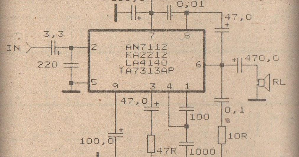 schematic power amplifier with ic an7112 subwoofer bass amplifier