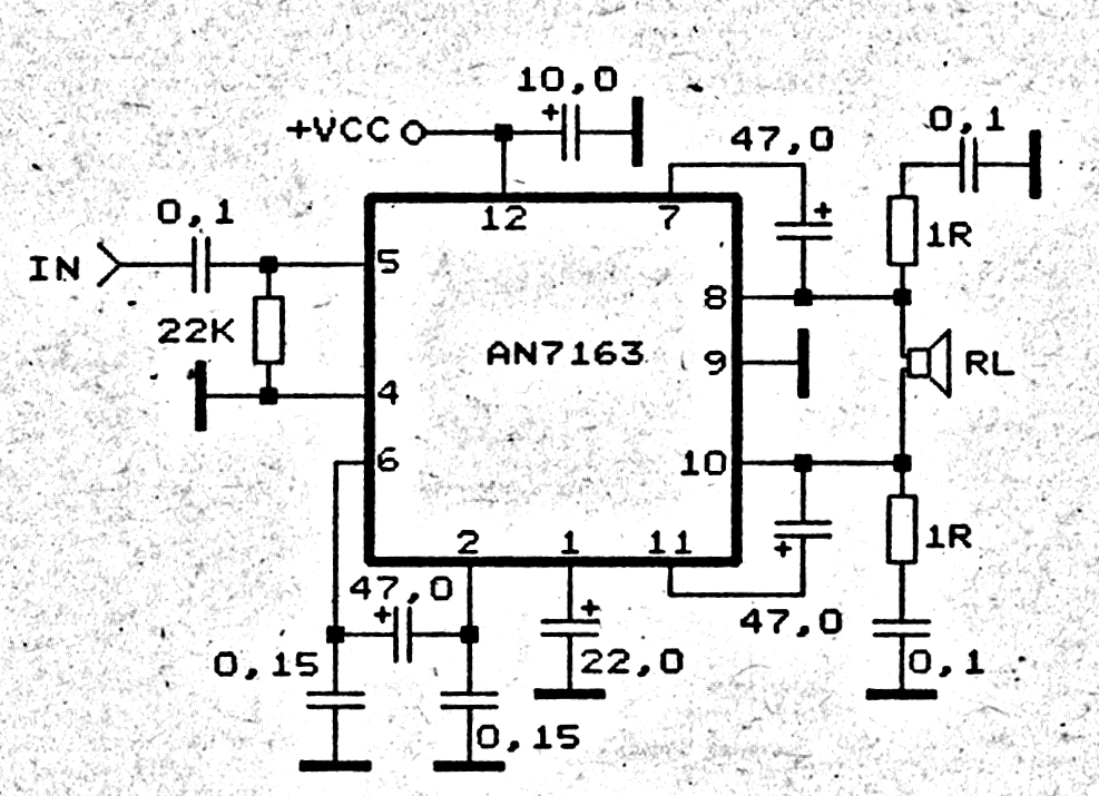 60 watt power amplifier circuit with tda1512 power