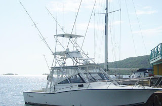 Photo of the 32-foot Albermale Sport boat