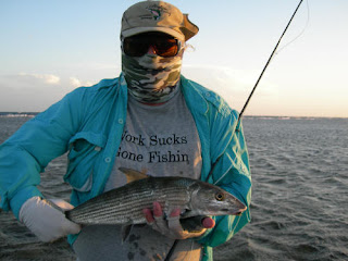 Photo of Chuck holding a bonefish