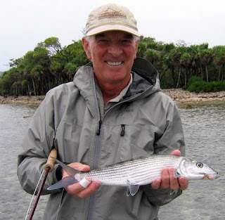 Photo of David holding a bonefish