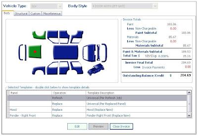 auto repair estimate form template, Invoice templates