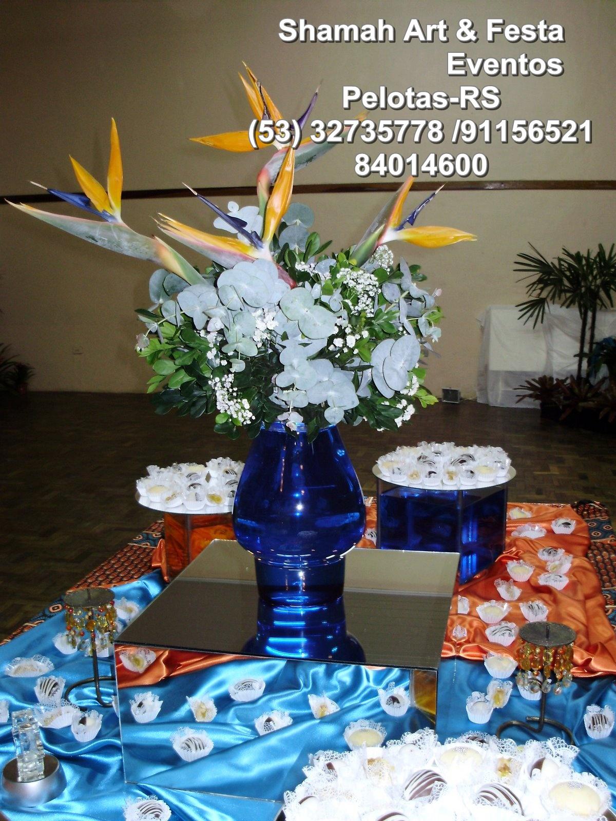Decoração Pelotas decoração aniversario tematico  azul e laranja