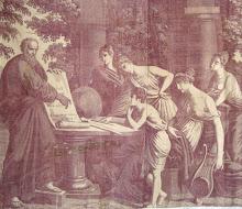 Toile de Nantes 'Socrates a Nantes' c1830