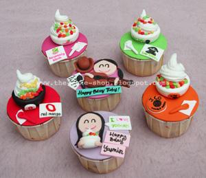 The Cake Shop: Frozen yogurt theme birthday cupcakes