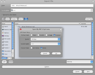 how to change bitrate in audacity