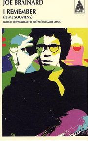 I remember de Joe Brainard