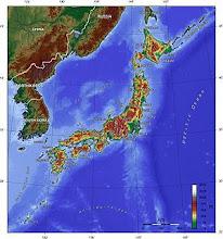Mapa Topográfico do Arquipélago Nipônico