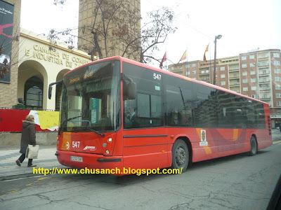 TRANSPORTE PÚBLICO EN ZARAGOZA: EL AUTOBÚS DE CUARTE, LUCE LIBREA ...