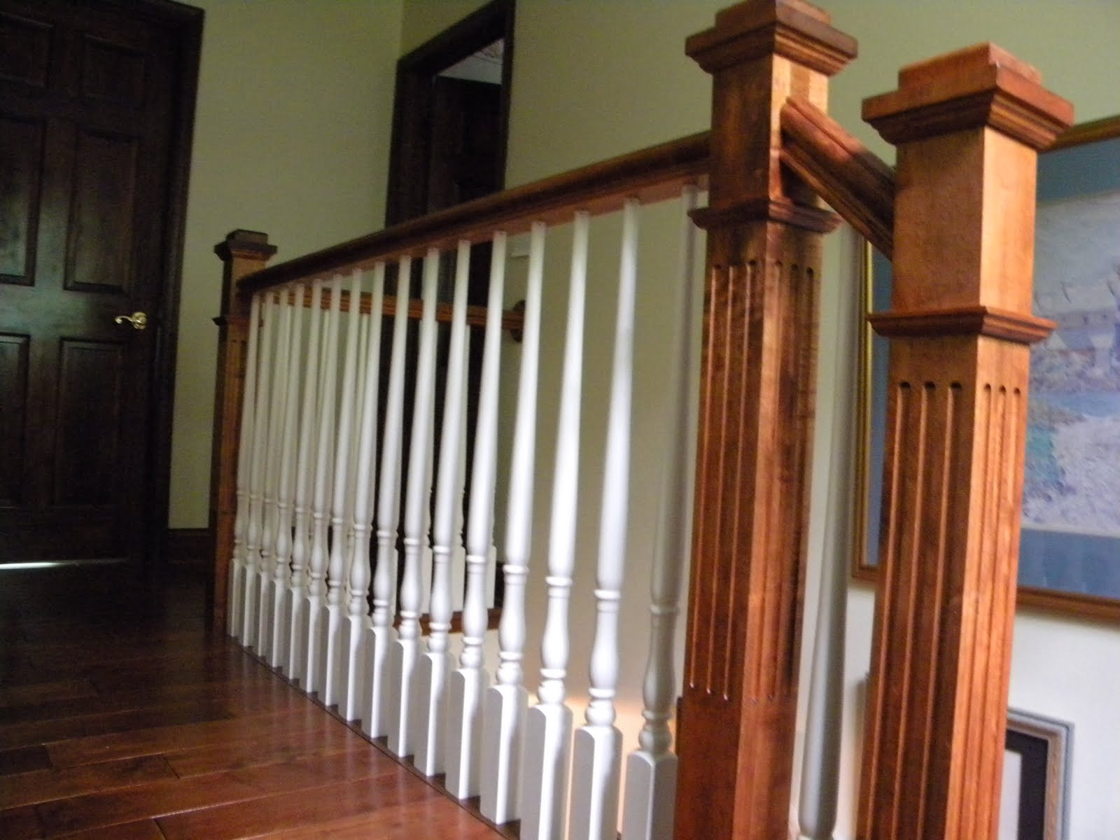 Merveilleux Maple Victorian Newel Post And Rail Installed In Medford NJ