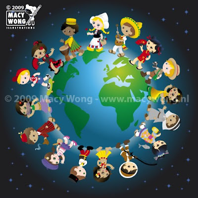 Macy Wong illustrations Blog: Kidz around the world