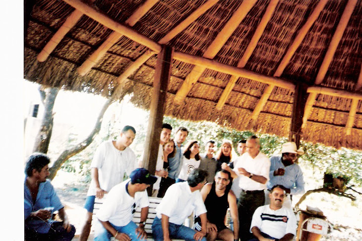 Recepcionando a chegada de nossos amigos Bartolomeu Clemente e José Hamilton em Costa Rica