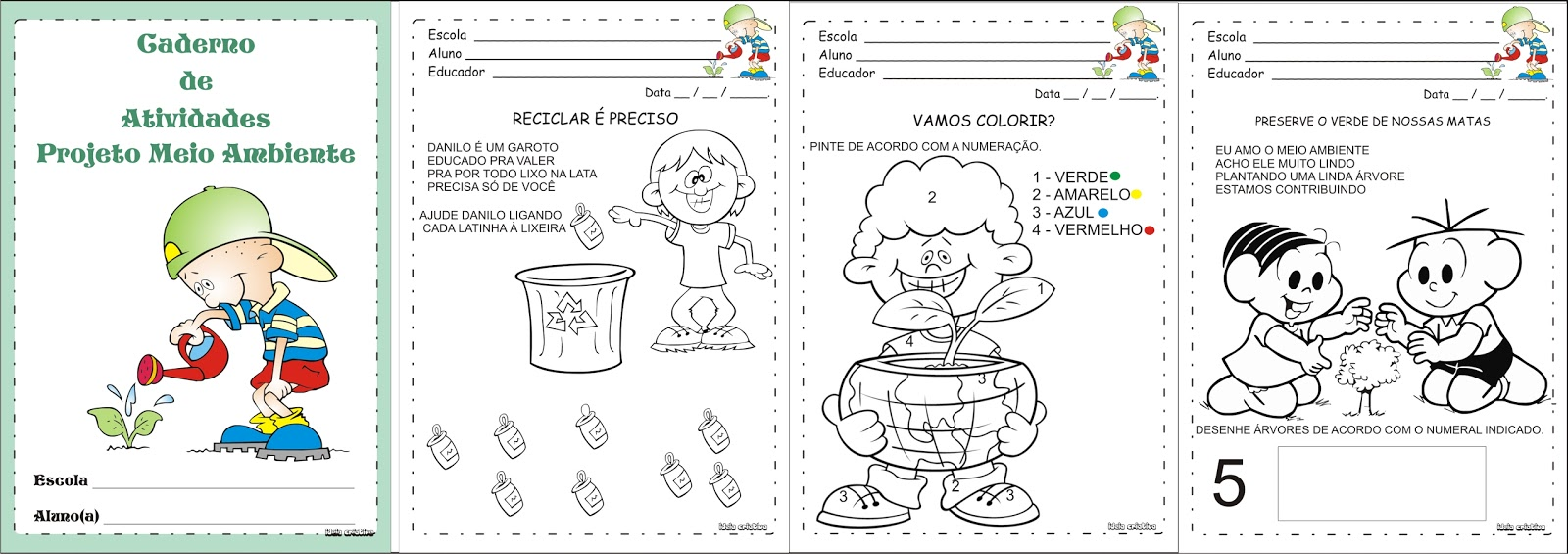 Muitas vezes Caderno de Atividades Projeto Meio Ambiente VT96