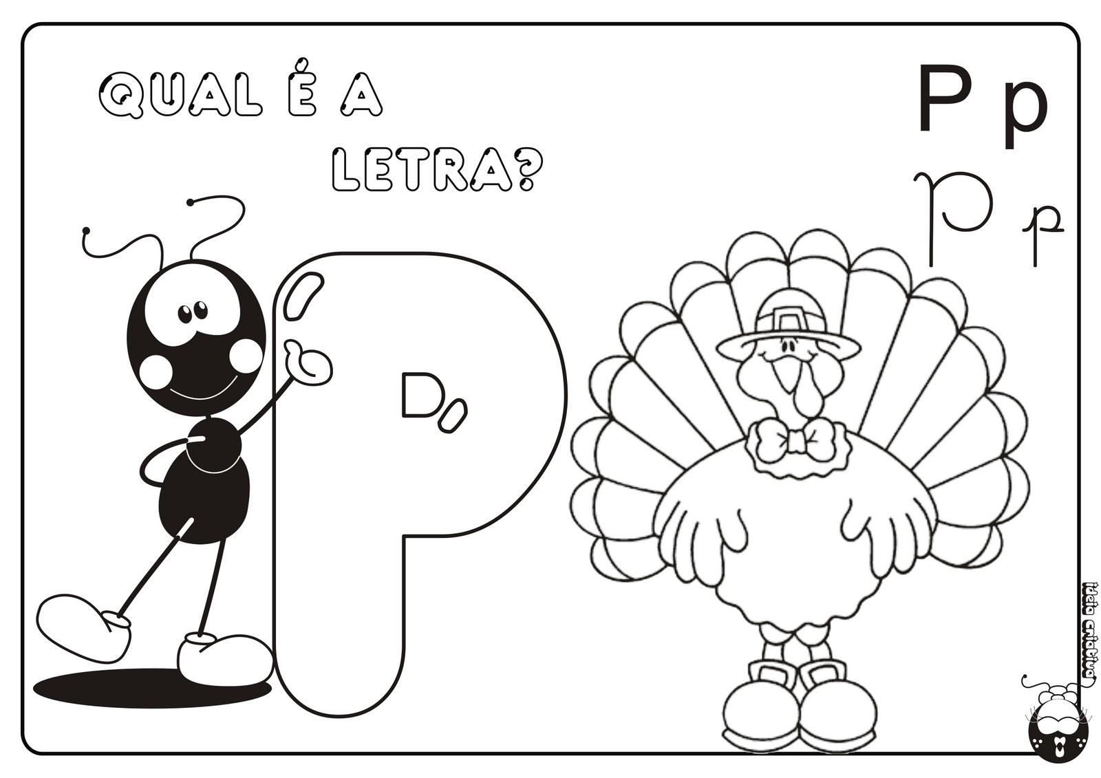 Alfabeto Smilinguido 4 tipos de letra para Baixar Grátis Letra p
