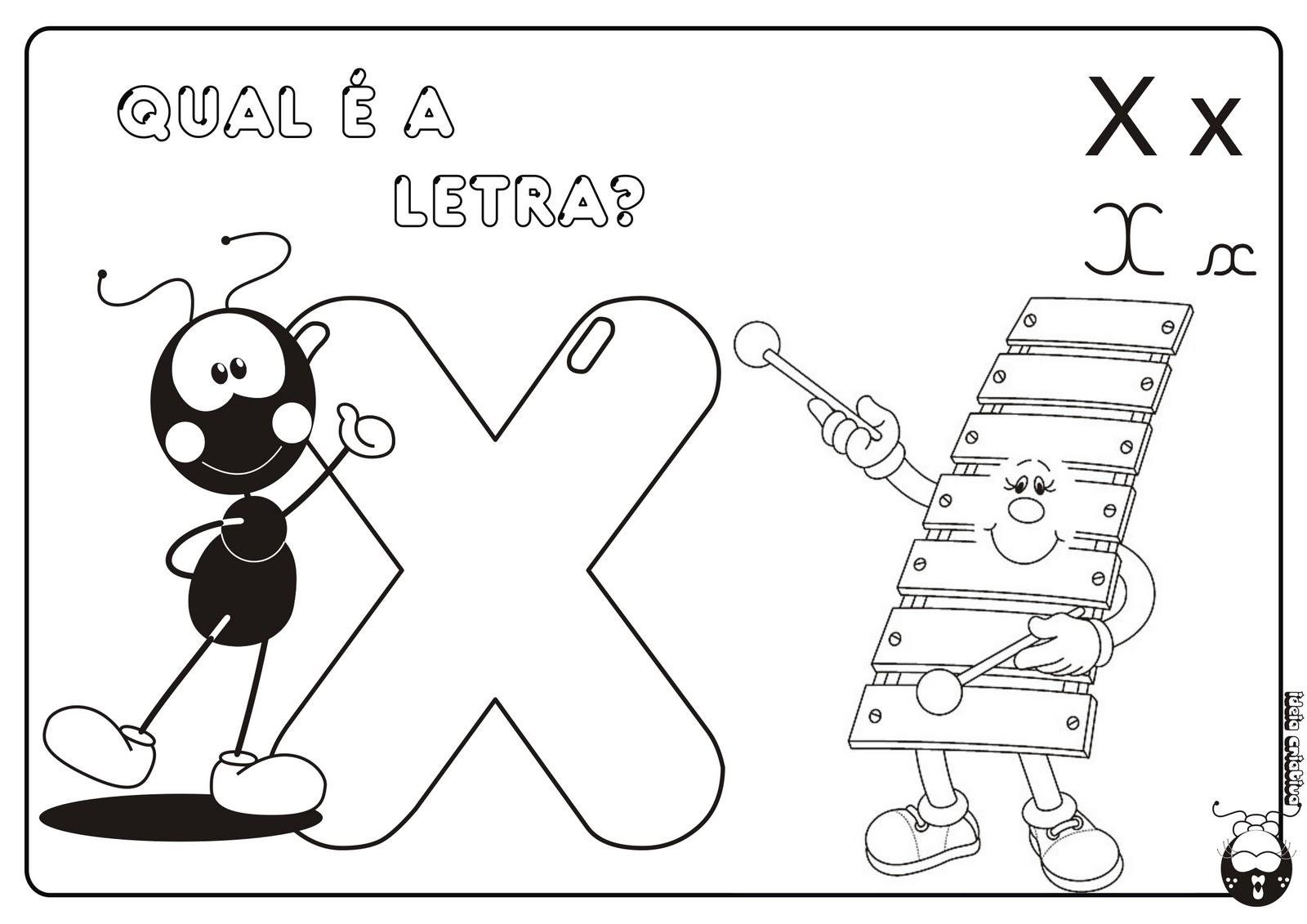 Alfabeto Smilinguido 4 tipos de letra para Baixar Grátis Letra x