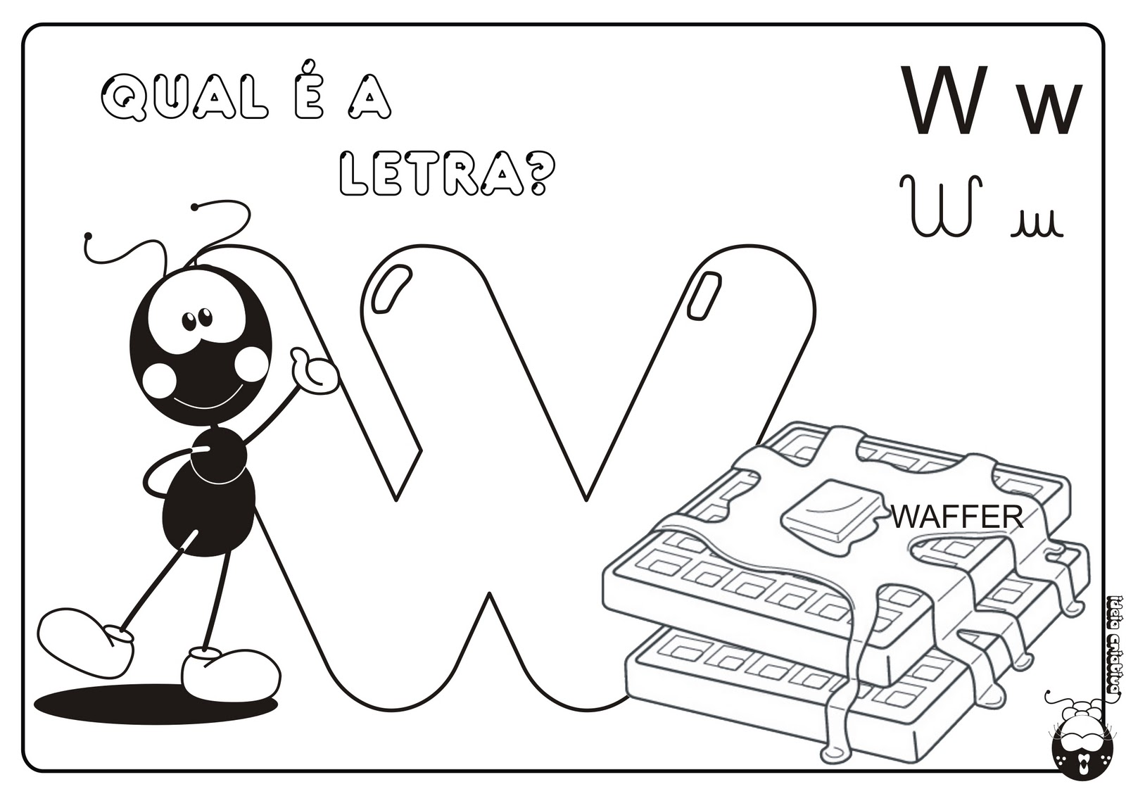 Alfabeto Smilinguido 4 tipos de letra para Baixar Grátis Letra w