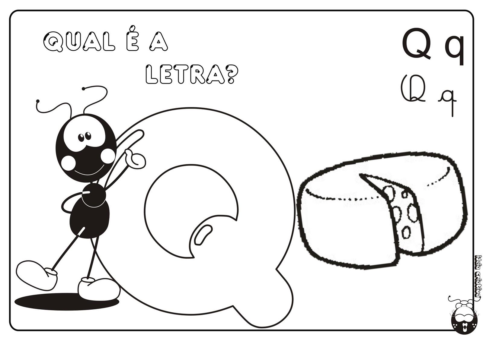 Alfabeto Smilinguido 4 tipos de letra para Baixar Grátis Letra q