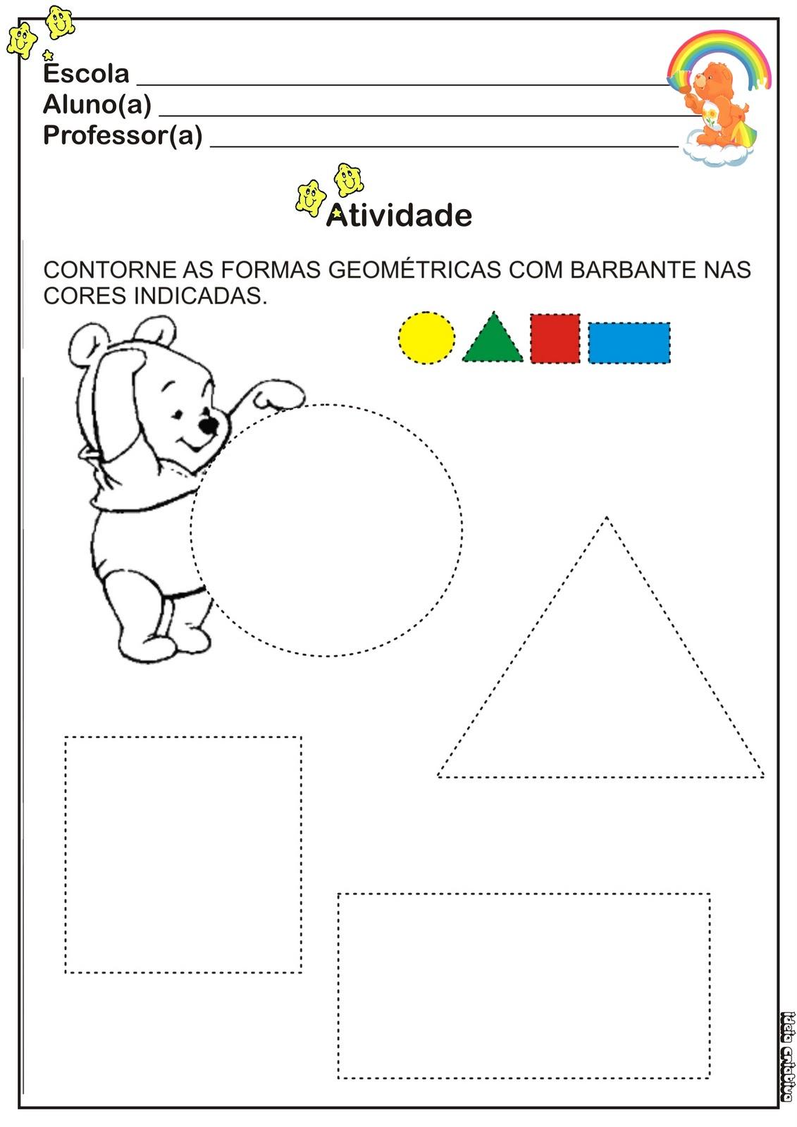 Populares Atividade Cores e Formas | Ideia Criativa - Gi Barbosa Educação  VE08