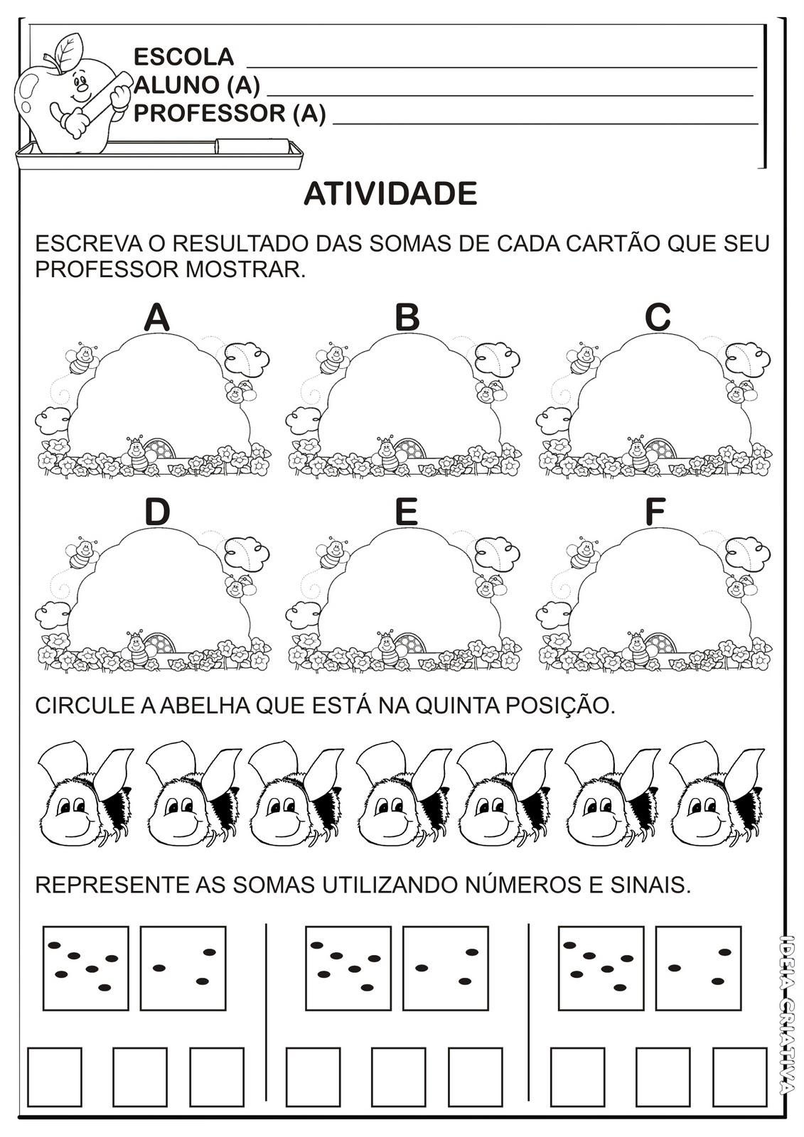 Well-known Caderno de Matemática / Pré 5 à 6 anos | Ideia Criativa - Gi  FR72