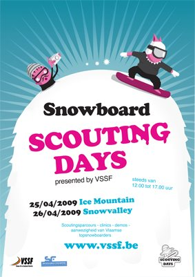 affiche snowboard scouting days