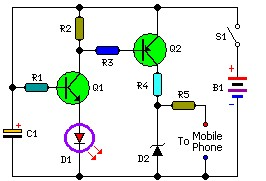 Mobile Phone Charger Circuit For Traveling