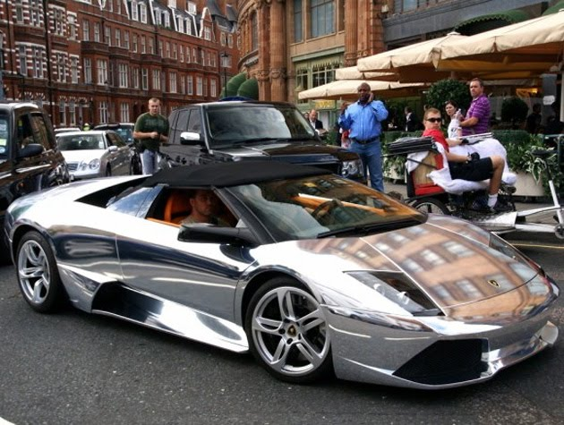 Chrome Paint Lamborghini