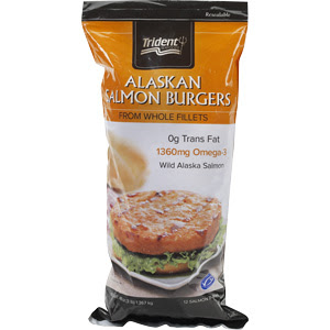 Gluten Free Frozen Salmon and Turkey Burgers from Costco