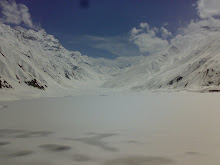 lake safe ul maluk covered with snow (Pakistan)