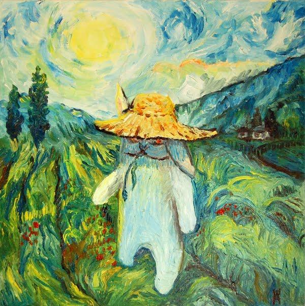 Summer in Toscane a la Van Gogh