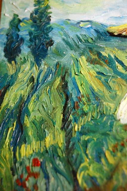 Summer in Toscane earth a la Van Gogh