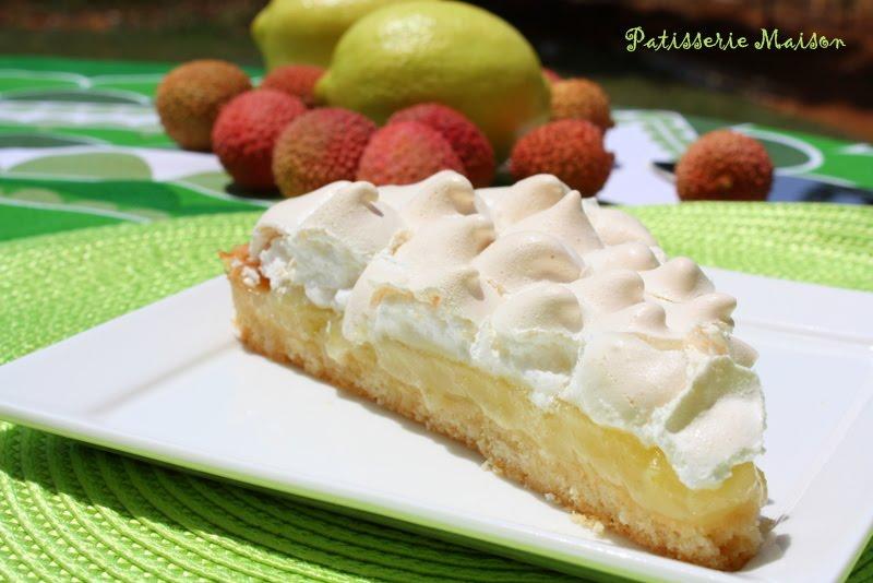 Patisserie maison tarte au citron meringu e - Tarte citron meringuee marmiton ...