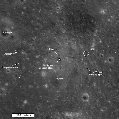 Best view yet of Apollo landing site