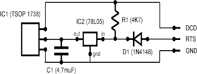 Simple IR (Infra Red) Receiver Schematic