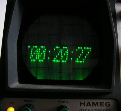 AVR Oscilloscope Clock