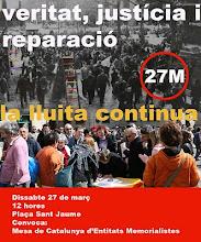 NOVENA CONCENTRACIÓ VERITAT, JUSTÍCIA I REPARACIÓ.27/03/2010