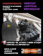 SISENA CONCENTRACIÓ VERITAT JUSTÍCIA I REPARACIÓ 28 NOVEMBRE 2009