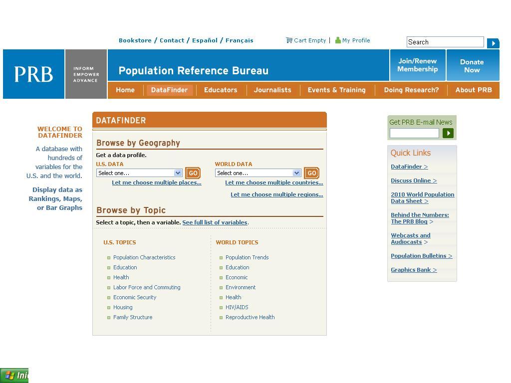 Gpd udl population reference bureau - Population reference bureau ...